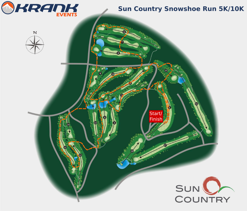 Sun Country Snowshoe Course Map